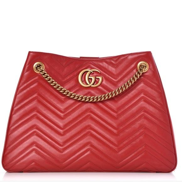 9b0e069ba394 Gucci Marmont Maltese s medium red shoulder bag